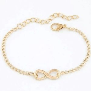 Jewelry - 🔥2 for $15🔥 Infinity Gold Bracelet